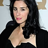 Sarah Silverman wore black to a party in LA.
