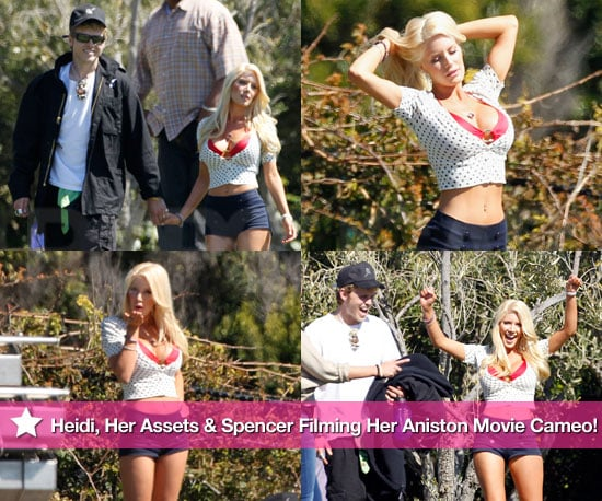 Heidi Montag, Her Assets and Spencer Pratt Seen Filming Her Jennifer Aniston Movie Cameo!