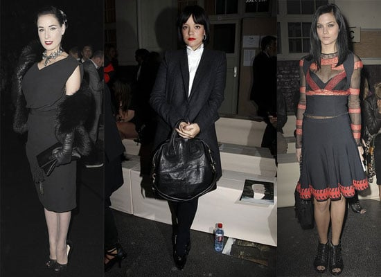 Lily Allen, Leigh Lezark, Dita Von Teese and more At Spring 2011 Paris Fashion Week