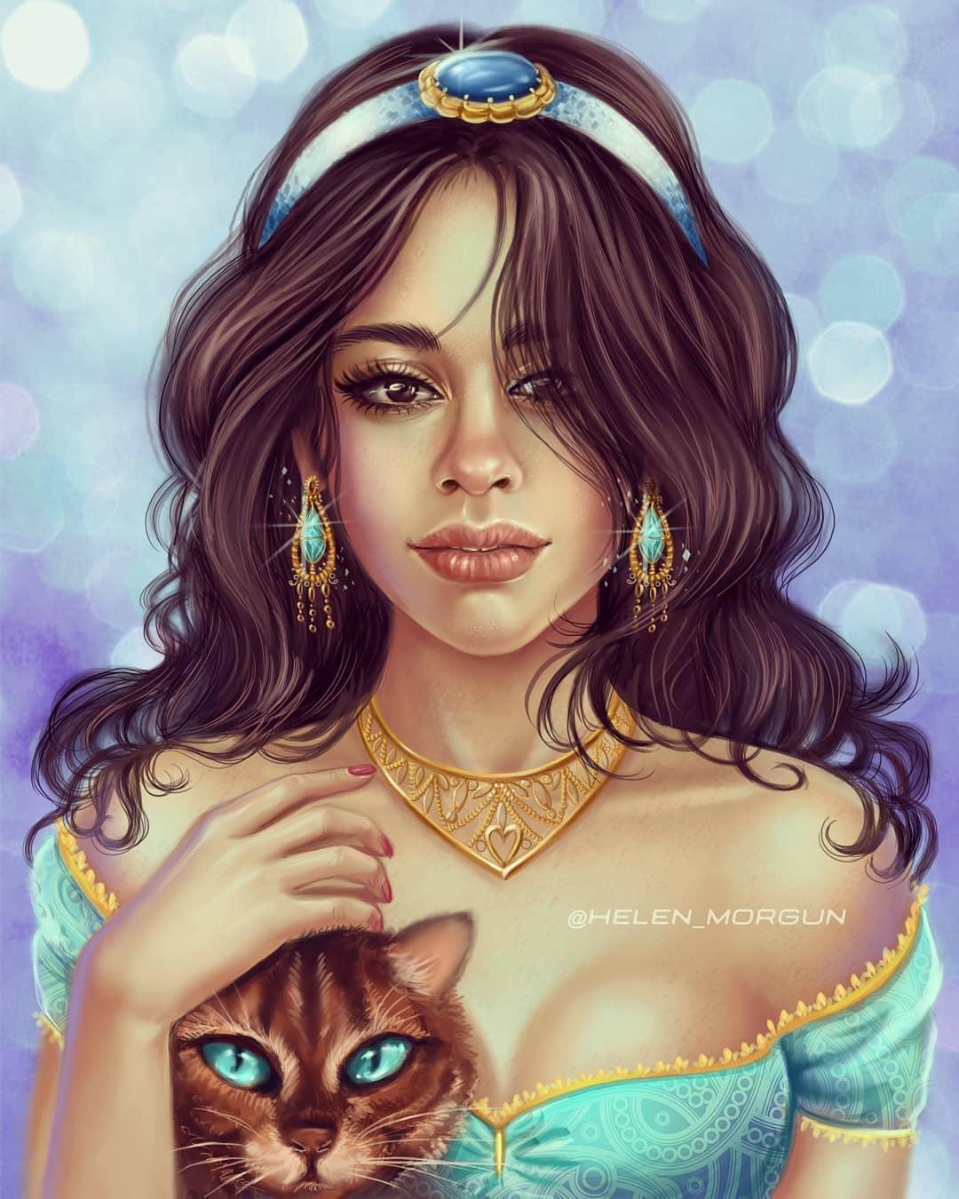 Artist Transforms Female Celebrities Into Disney Princesses