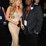 Mariah Carey linked up with Randy Jackson at the BET Awards in LA.