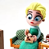 Does Elsa Eat Too Much? Stop-Motion Video