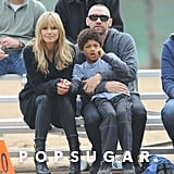 Heidi Klum went to watch her kids' football game in LA on Saturday.