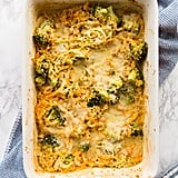 Cheesy Broccoli, Butternut Squash and Quinoa Casserole