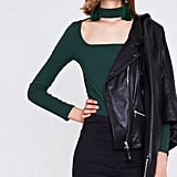 River Island Green Rib Top