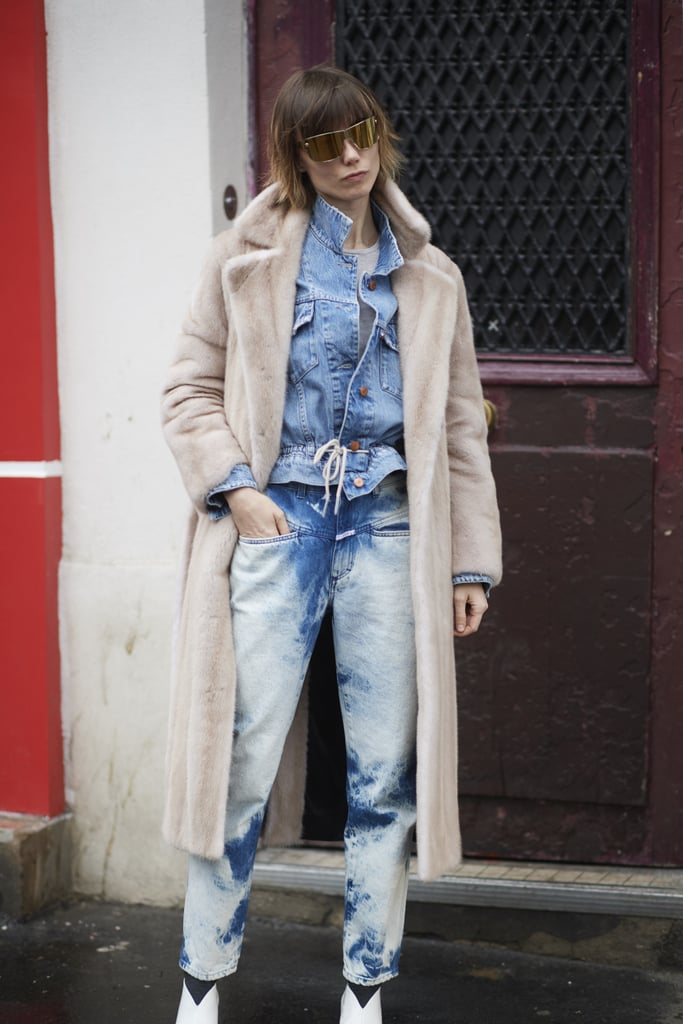 Acid wash or tie-dye jeans put a trendy spin on the denim combo.