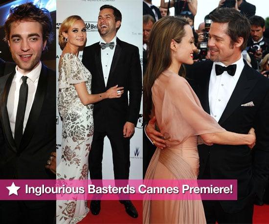 Photos From Inglourious Basterds Cannes Premiere With Brad Pitt, Angelina Jolie, Robert Pattinson, Joshua Jackson, Diane Kruger