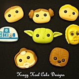 These hand-sculpted gum-paste Star Wars characters ($45) are perfect for a smaller cake.