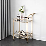 Mainstays Tempered Glass and Metal Bar Cart