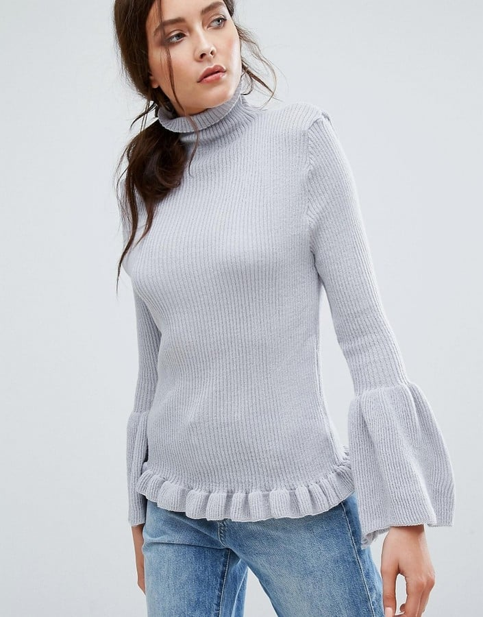 d8c154a7cf6 Boohoo Funnel-Neck Wide-Sleeved Sweater