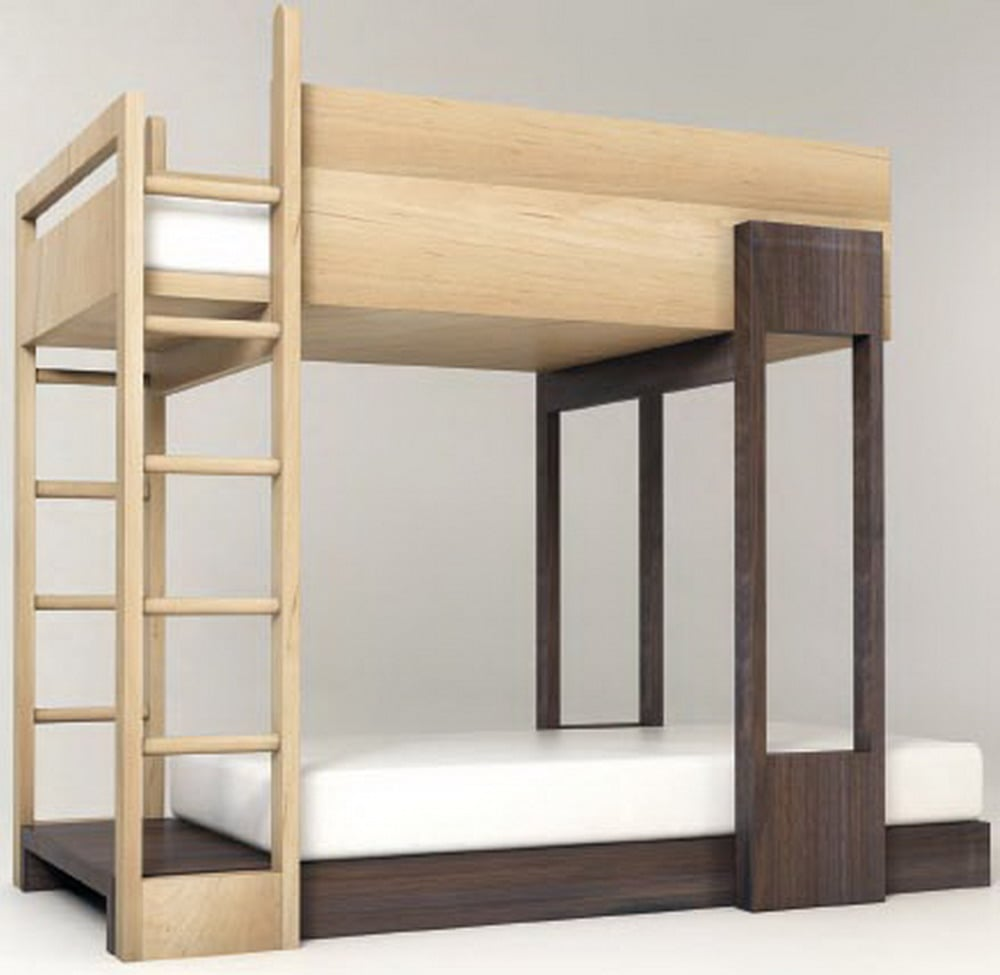 Modern bunk beds with desk - Pluunk Bunk Bed