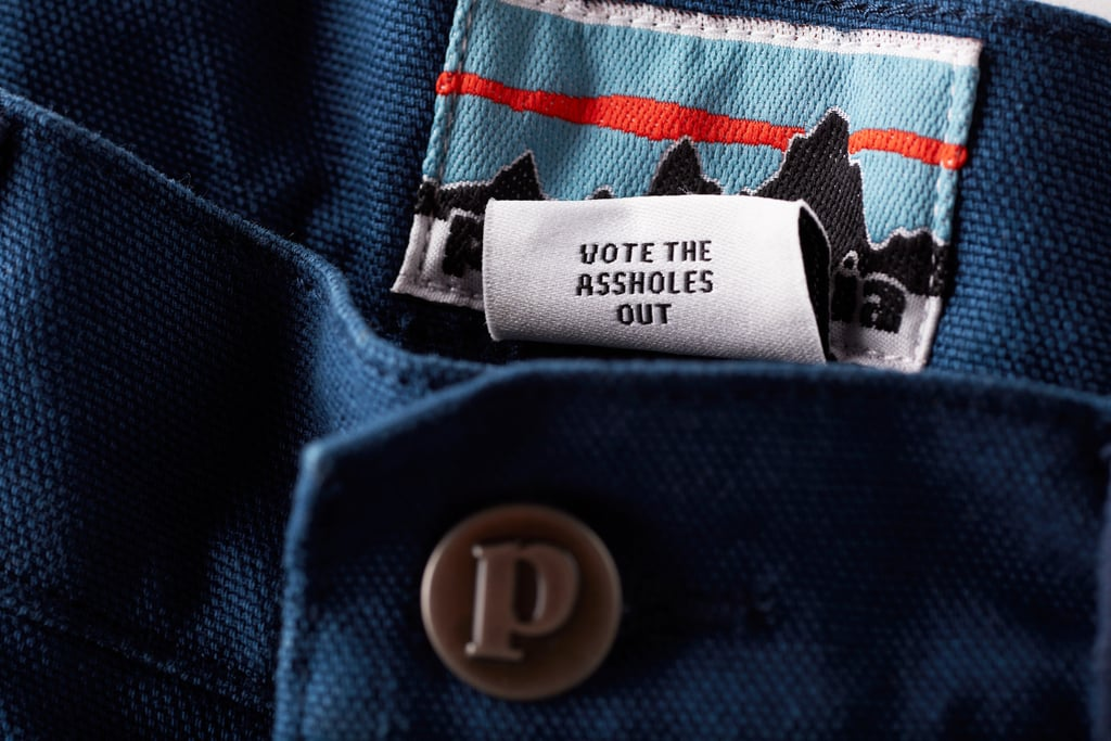 "Patagonia Is Making ""Vote the Assh*les Out"" Tags"