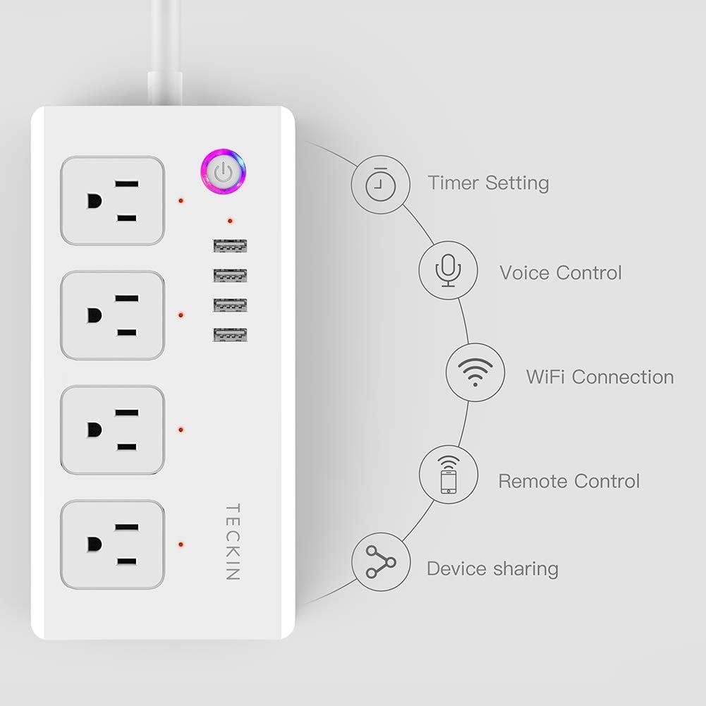 Smart Power Strip WiFi Power Bar Extension Cord