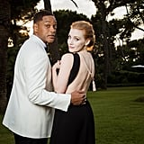 Will Smith and Jessica Chastain dressed to the nines for the amfAR Gala in 2017.