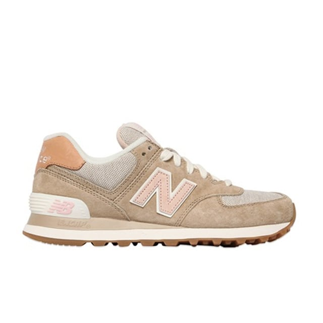 New Balance 574 Suede & Nylon Canvas Sneakers ($119)