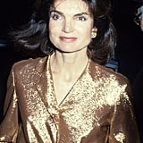 Jackie Kennedy at the International Center of Photography in 1978