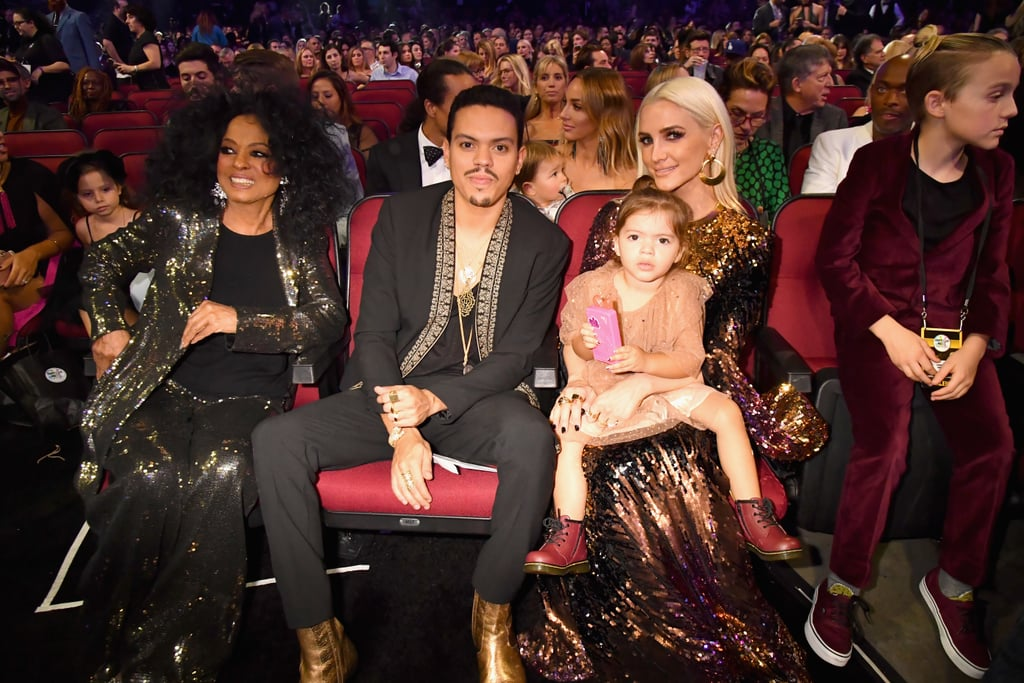 Pictured: Diana Ross, Evan Ross, Jagger Ross, and Ashlee Simpson