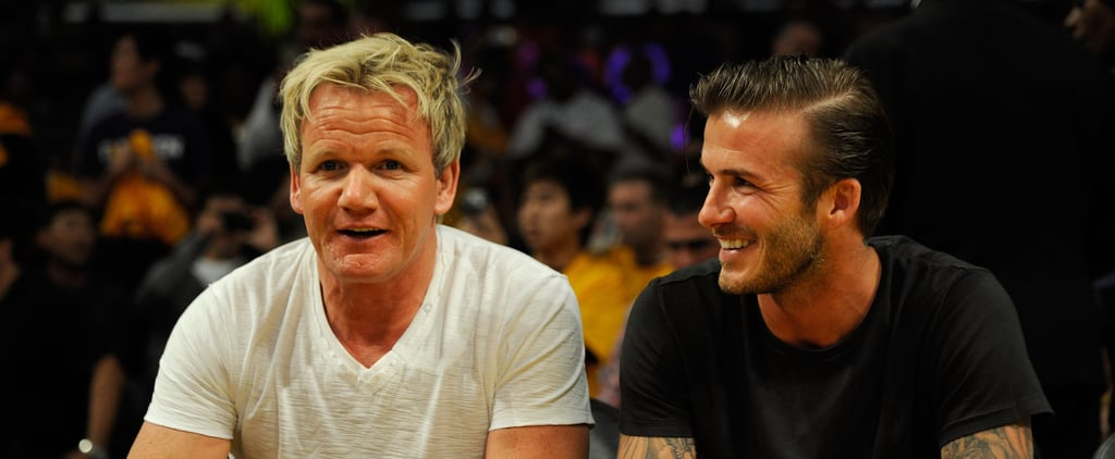 Pictures of Gordon Ramsay and David Beckham