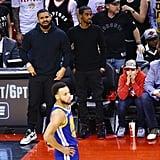 Barack Obama and Drake at the 2019 NBA Finals