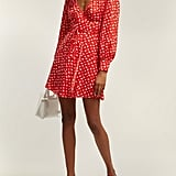 Alexa Chung Floral Print Crepe Wrap Dress ($422)