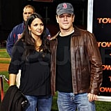 Matt Damon and Luciana Damon supported good friend Ben Affleck at the Fenway Park premiere of The Town in September of 2010.