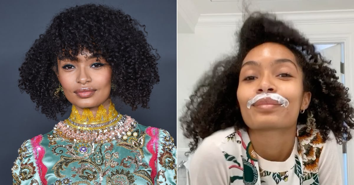 "Yara Shahidi Is Giving Us ""Emmy's Prep Realness"" With This Video of Her Bleaching Her Lip"