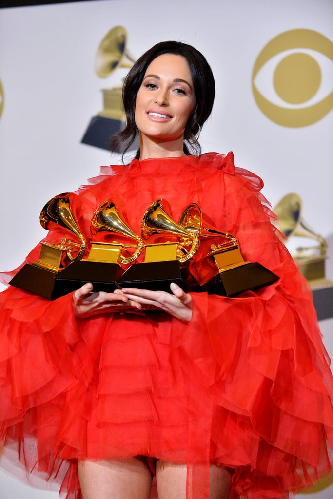 "Kacey Musgraves had a pretty monumental night at the Grammys on Sunday. The talented ""Rainbow"" singer managed to take home all four awards she was nominated for, including album of the year. Not only was it a huge accomplishment for the 30-year-old, but it also marked the first album of the year win by a country artist since Taylor Swift. In 2010, the country-turned-pop singer took home her very first album of the year win for Fearless.  Interestingly enough, Musgraves won the exact same Grammys as Swift did. During the 2010 ceremony, Swift took home album of the year, best country album for Fearless, as well as best country song and best female country vocal performance for ""White Horse."" This year, Musgraves won album of the year, best country album for Golden Hour, best country song for ""Space Cowboy,"" and best country solo performance for ""Butterflies."" The latter award combines the previous categories for best female country vocal performance, best male country vocal performance, and best country instrumental performance, making Musgraves and Swift's wins identical. See their record-breaking wins for album of the year, side by side, ahead.      Related:                                                                                                           10 Essential Kacey Musgraves Songs Every Fan Needs to Have on Their Playlist"