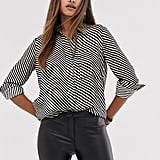 Mango Stripe Printed Shirt