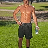Joey Lawrence works out shirtless in LA.