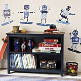 Pottery Barn Kids Skateboarding Robot Decals