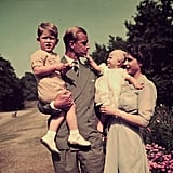 Prince Philip and Queen Elizabeth II With Prince Charles and Princess Anne in 1951