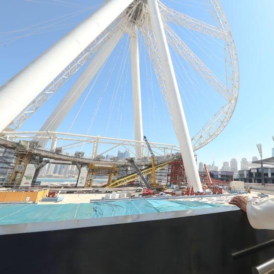 Dubai Sheikh Mohammed Visits Bluewaters Island