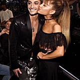Frankie Grande and Ariana Grande at the 2016 MTV Video Music Awards.
