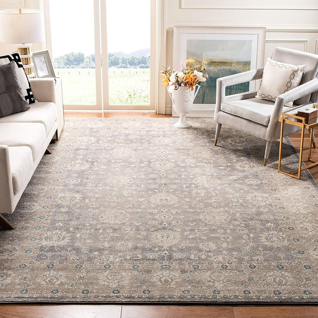 Safavieh Sofia Collection Vintage Light Grey and Beige Distressed Area Rug