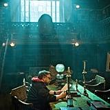 Director Guillermo del Toro on the set.