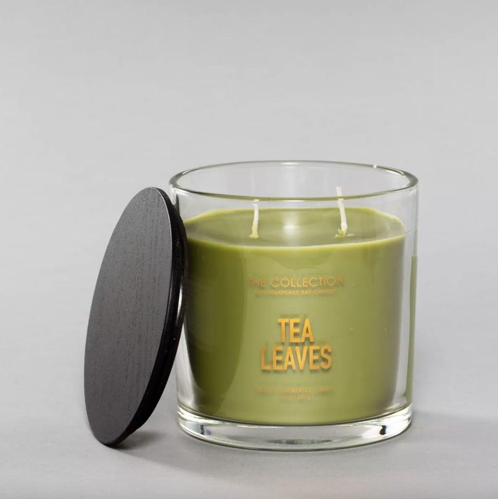 Tea Leaves Glass Jar 2-Wick Candle