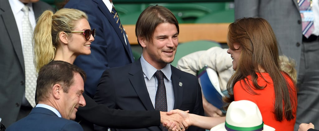 Josh Hartnett With Pregnant Girlfriend at Wimbledon