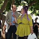 Prince William Meeting Eurovision Winner, Netta Barzilai