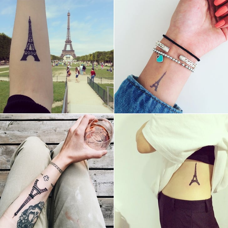 Cute Eiffel Tower Tattoos