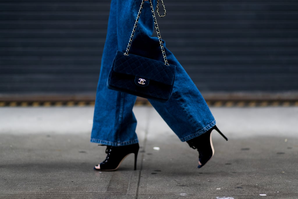 For a More Subtle Go at the Trend, Choose a Navy Velvet Purse