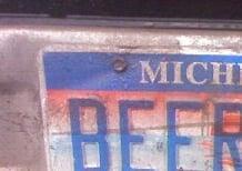 Beer Run License Plate