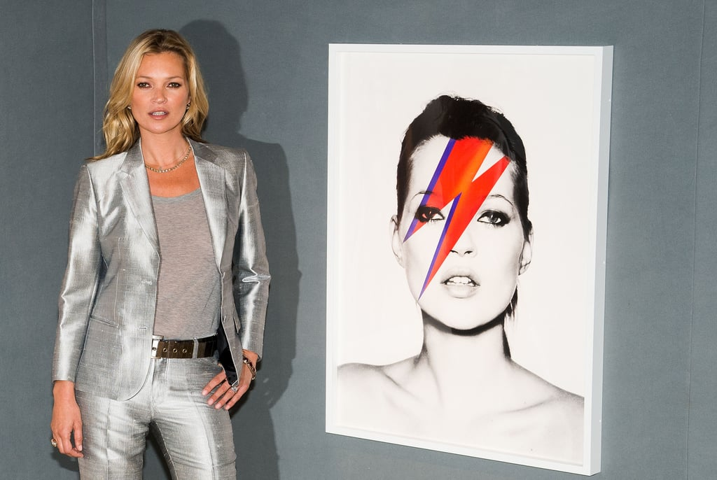 Kate Moss posed at a photocall ahead of her Kate Moss The Collection auction at Christie's in London.