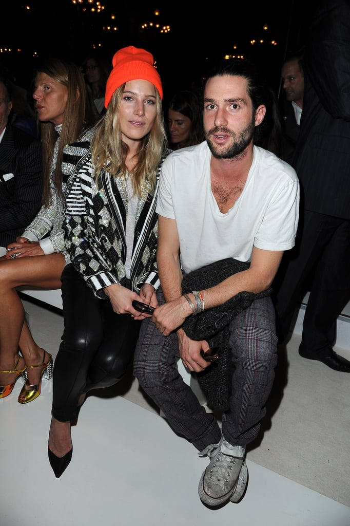 Dree Hemingway and Phil Winser sat together in the front row.