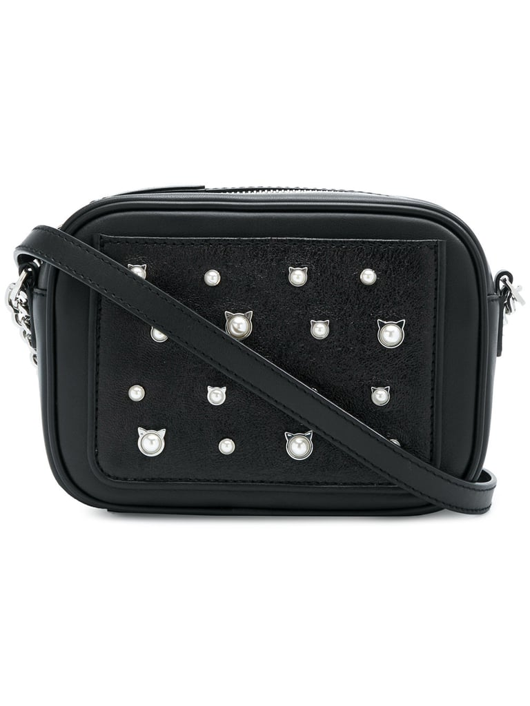 Karl Lagerfeld Cat Pearl Crossbody Bag Dua Lipa Roger Vivier Bag