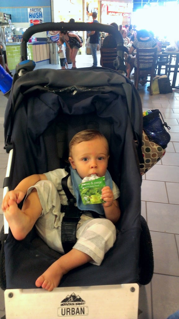 But our diaper bags are overflowing with pouches of store-bought food.