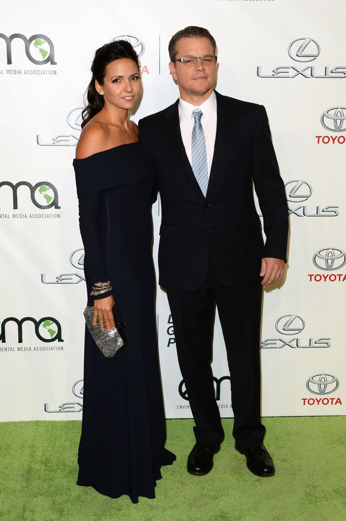 Matt Damon and his wife, Luciana, walked the green carpet at the Environmental Media Awards in LA.