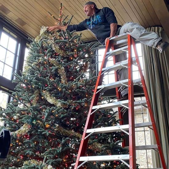 Tim McGraw Decorates Giant Christmas Tree | Instagram Photos