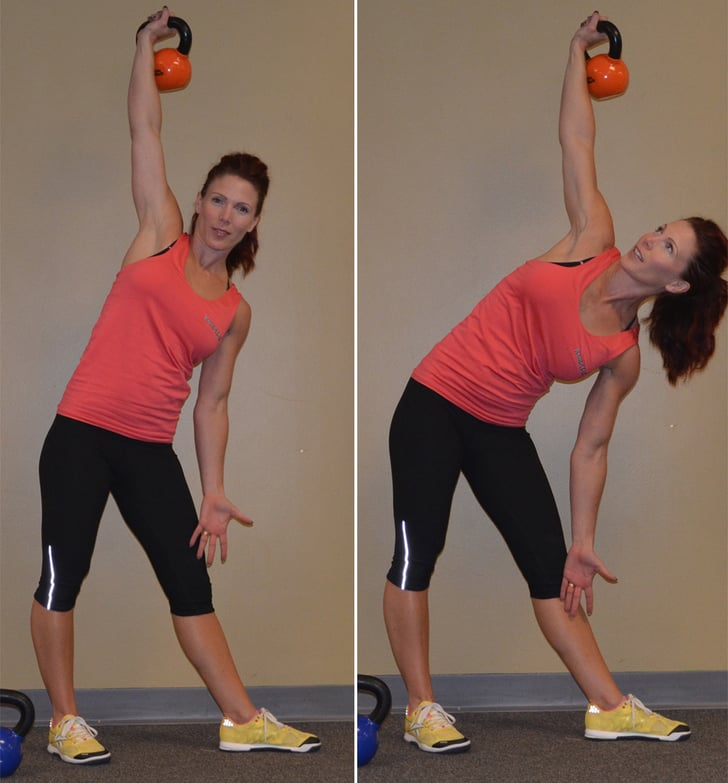 Exercise Kettlebell Overhead Windmill Modified: POPSUGAR Fitness Photo 3