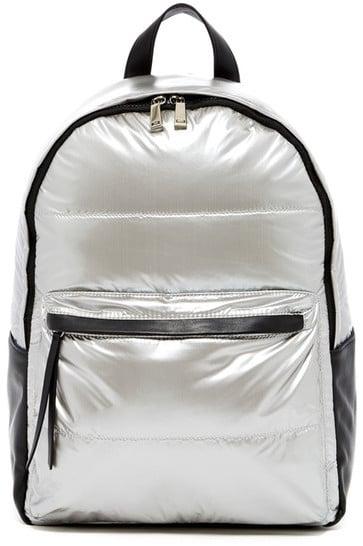 Nylon Metallic Backpack