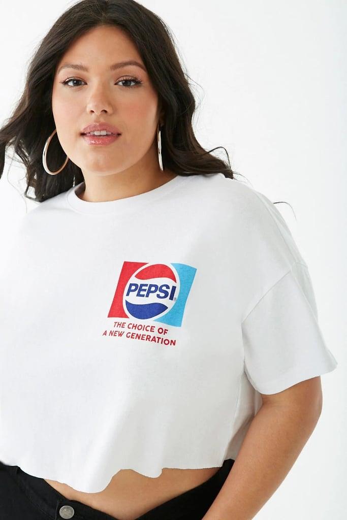 Plus Size Pepsi Crop Top